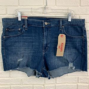 Levi's high rise shorts distressed stretch NEW